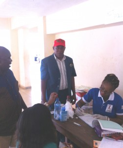 Dr C Aranotu monitoring HIV Counseling and Testing session