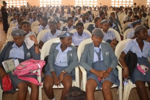 Cross section of the students from some of the Secondary Schools in Nsukka